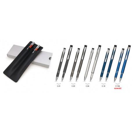 Zestaw Piśmienny Cosmo (roller + długopis) w etui