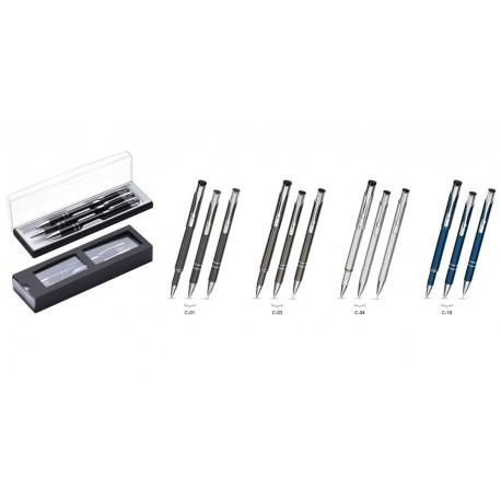 Zestaw Piśmienny Cosmo (długopis, ołówek i roller) w etui