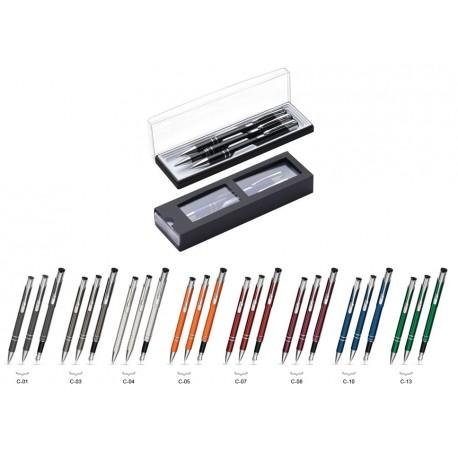 Zestaw Piśmienny Cosmo (długopis, ołówek i pióro) w etui