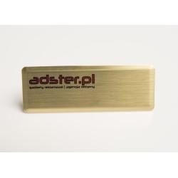 Identyfikator mosiężny 70x25 mm zapinka tradycyjna