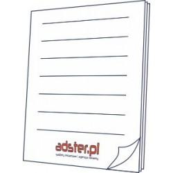 Notesy 50 kartek klejone bez okładki A5